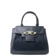 PIERRE CARDIN STYLISH VELVET CROCODILE SKIN TEXTURED SATCHEL