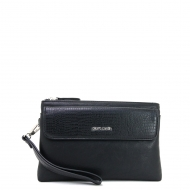 PIERRE CARDIN SPECIAL CROCODILE SKIN TEXTURED CLUTCH BAG
