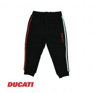 DUCATI KID BOY DUAL COLOR SIDELINE RELAXED JOGGER PANT - BLACK