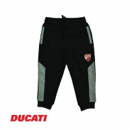 DUCATI KID BOY ABSTRACT SIDELINE RELAXED JOGGER PANT - BLACK