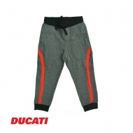 DUCATI KID BOY RED SIDELINE RELAXED JOGGER PANT - GREY