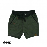 JEEP BABY BOY RIB WAIST BERMUDA SHORT PANTS -DARK OLIVE