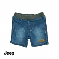 JEEP BABY BOY DENIM BERMUDA PANTS WITH RIB WAISTBAND