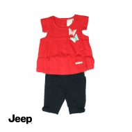 JEEP BABY GIRL 2-IN-1 SHORT SLEEVE BLOUSE AND LEGGING SET