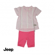 JEEP BABY GIRL 2-IN-1 SHORT SLEEVE BLOUSE & LEGGING SET