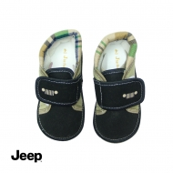 JEEP BABY BOY WALKING SHOES -BLACK