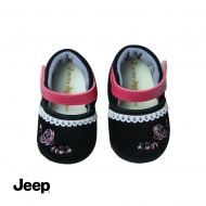 JEEP BABY GIRL SOFT BOOTIES -BLACK