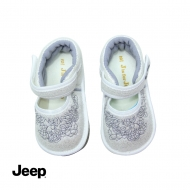 JEEP BABY GIRL WALKING SHOES -WHITE