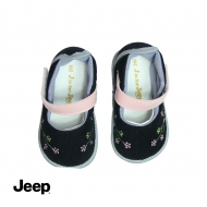 JEEP BABY GIRL WALKING SHOES -BLACK