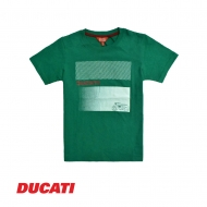 DUCATI KID BOY SHORT SLEEVE  GRAPHIC TEE - GREEN