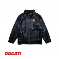 DUCATI KID BOY CLASSIC LEATHER JACKET - BLACK