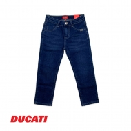 DUCATI KID BOY DENIM WAIST ADJUSTABLE LONG PANT (RELAX FIT) - BLUE