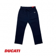 DUCATI KID BOY FULL ELASTIC WAIST COTTON PULL-ON LONG PANT - NAVY