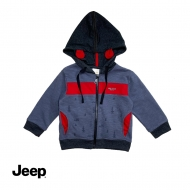 JEEP BABY BOY LONG SLEEVE HOODIE JACKET - NAVY