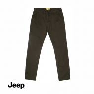 JEEP MEN COTTON LONG PANTS (SLIM FIT) - DRAK BROWN