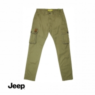 JEEP MEN CARGO LONG PANTS (SLIM FIT) - KHAKI
