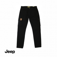 JEEP MEN CARGO LONG PANTS (SLIM FIT) - BLACK