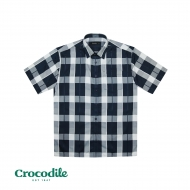 CROCODILE MICROFIBRE CHECKED REGULAR FIT SHIRT- BLUE