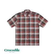 CROCODILE MICROFIBRE CHECKED REGULAR FIT SHIRT- RED