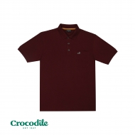 CROCODILE CVC PIQUE SOLID REGULAR FIT POLO TEE - MAROON