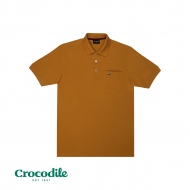 CROCODILE CVC PIQUE SOLID REGULAR FIT POLO TEE - YELLOW